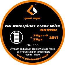 SS Caterpillar track wire Geek Vape