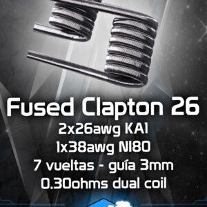 Resistencias artesanales CHUS COILS fused clapton 26