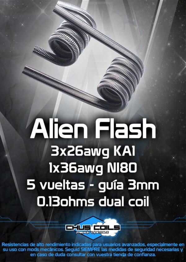 Resistencias artesanales CHUS COILS Alien flash
