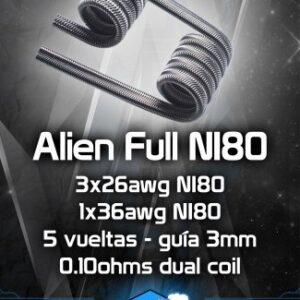 Resistencias artesanales CHUS COILS Alien ful ni80