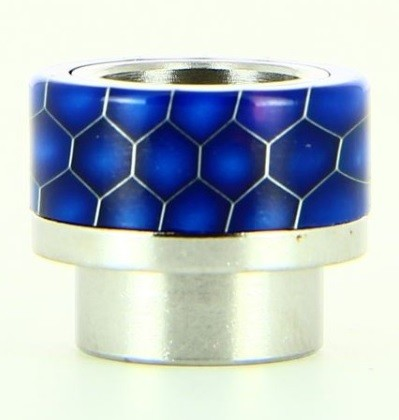 Drip Tip de resina epoxy honeycomb azul