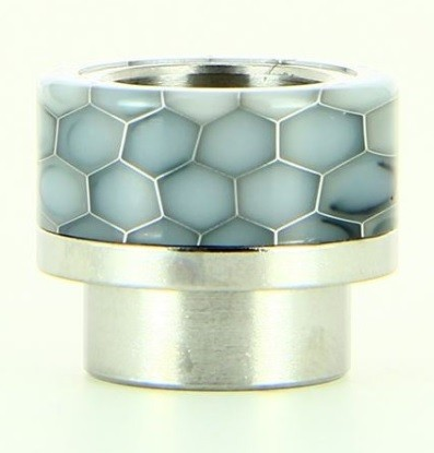 Drip Tip de resina epoxy honeycomb plata