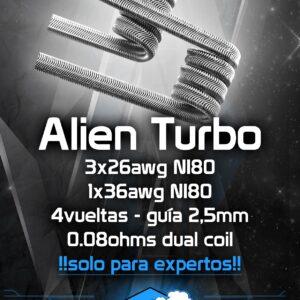 Resistencias artesanales CHUS COILS Alien turbo