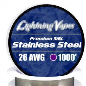 Lightning Vapes - Bobina Acero 316L 75 m.