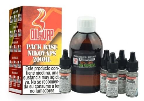 Pack Base y Nikovaps Oil4vap 20/80 6mg/ml (Total 1 litro)
