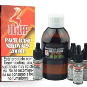 Pack Base y Nikovaps Oil4vap 20/80 3mg/ml (Total 200ml)